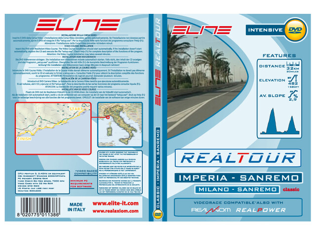 Elite DVD Milano Sanremo Imperia-Sanremo Real Axiom/Power/Tour grøn/hvid